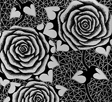Roses in Black and White, Tattoo style by xcziel