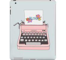 Aloha Typewriter iPad Case/Skin