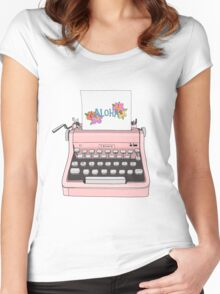 Aloha Typewriter Women's Fitted Scoop T-Shirt