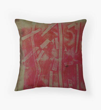 Monotype VII Throw Pillow