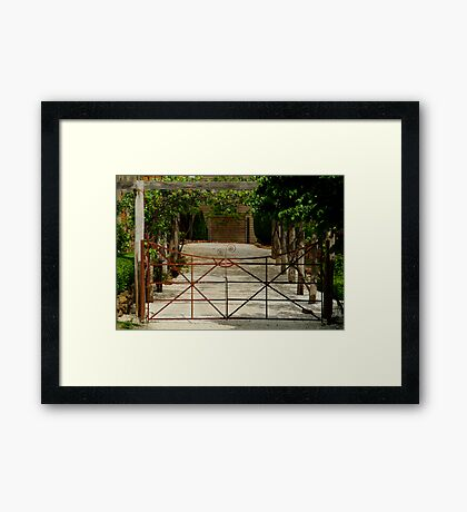 Villa Gate Framed Print