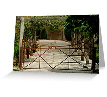 Villa Gate Greeting Card