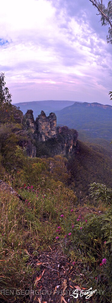 Three Sisters ( Katoomba, Australia ) by STEPHEN GEORGIOU PHOTOGRAPHY
