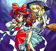 Touhou - Reimu and Marisa by 57MEDIA
