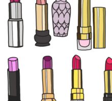 Your favorite lipstick collection Sticker