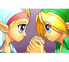 Legend of Zelda: Ocarina of Time - Young Link and Zelda Photographic Print