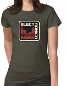 Electronica Red Meter Womens Fitted T-Shirt