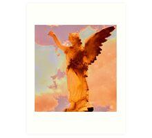 sunset angel Art Print