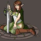 - Elven Sword Lady - by Neffy