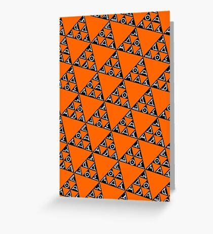 Max Ada Zoe tessellation (Triomino) Greeting Card