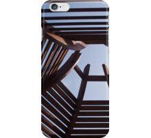 Modern wooden pergola arbor iPhone Case/Skin