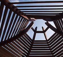 Modern wooden pergola arbor by Ron Zmiri