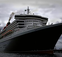 Queen Mary 2 - Docked in St. Kitts by Gerry Van der Walt
