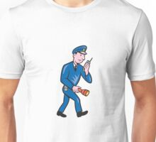 Policeman Torch Radio Cartoon Unisex T-Shirt