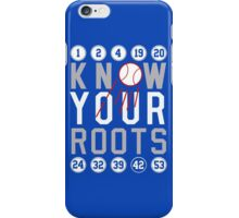 "Dodgers ""Know Your Roots"" iPhone Case/Skin"