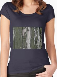Grunge old wood background Women's Fitted Scoop T-Shirt
