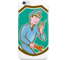 Policeman Torch Radio Shield Cartoon iPhone Case/Skin
