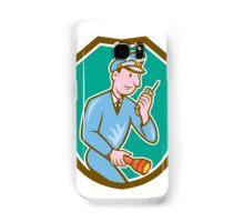 Policeman Torch Radio Shield Cartoon Samsung Galaxy Case/Skin