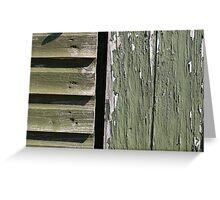Grunge old wood background Greeting Card