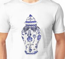 Blue and White Porcelain Unisex T-Shirt