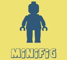 Minifig [Navy Blue] Kids Tee