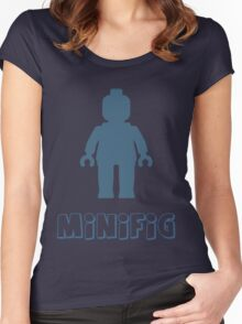 Minifig [Navy Blue] Women's Fitted Scoop T-Shirt