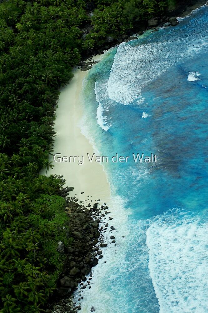 Aerial View of Tropical Beach by Gerry Van der Walt