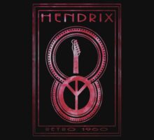 Hendrix stone washed red by Will Snell