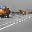 The Road To Tehran is Littered With Orange Trucks by Bryan Freeman
