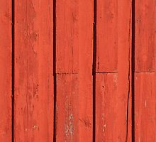 Red painted wood background by Ron Zmiri