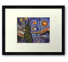 Starry night my version (from my original acrylic painting) Framed Print