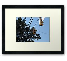 Stop at the cross walk Framed Print