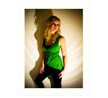 Sanna in green II Art Print