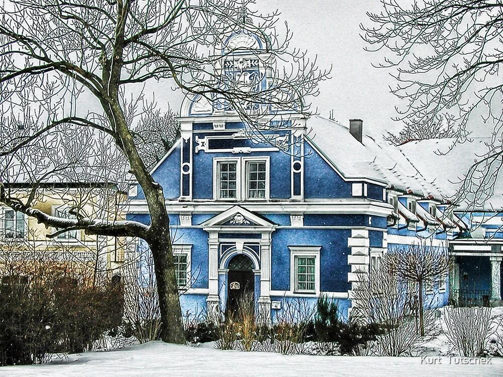 Blue house by Kurt  Tutschek