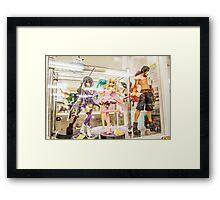 Anime Figures Framed Print