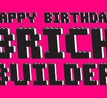 HAPPY BIRTHDAY BRICK BUILDER by Customize My Minifig