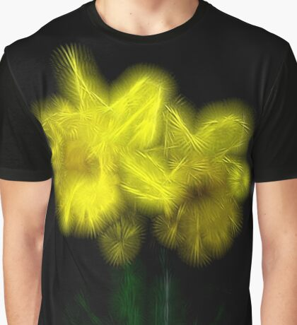 Splintered Yellow Daffodil Crystal Garden Design  Graphic T-Shirt