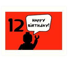 Happy 12th Birthday Greeting Card Art Print