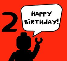 Happy 12th Birthday Greeting Card by Customize My Minifig