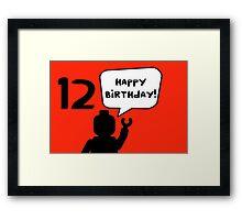 Happy 12th Birthday Greeting Card Framed Print