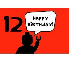 Happy 12th Birthday Greeting Card Photographic Print