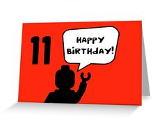 Happy 11th Birthday Greeting Card Greeting Card