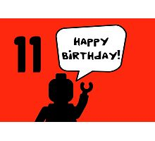 Happy 11th Birthday Greeting Card Photographic Print