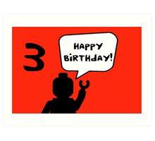 Happy 3rd Birthday Greeting Card Art Print
