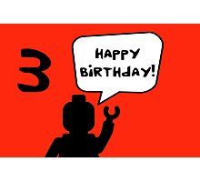 Happy 3rd Birthday Greeting Card Photographic Print