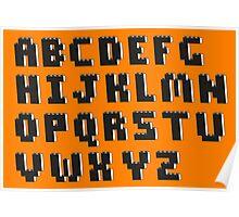 Brick Font Alphabet Poster
