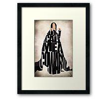 Severus Snape Framed Print