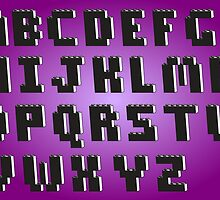 Brick Font Alphabet by Customize My Minifig
