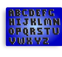 Brick Font Alphabet Canvas Print