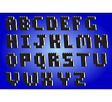 Brick Font Alphabet Photographic Print